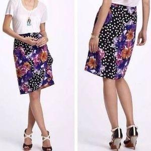 Anthro Baraschi Beryl floral skirt floral dot T120
